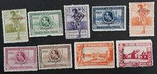 RARE 1929 Spain lot of 9 Seville & Barcelona Exhibition stamps Mint Musetra O/P