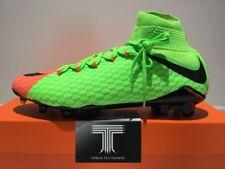 Nike HYPERVENOM PHATAL III DF FG ~ 852554 308 ~ Regno Unito taglia 9 ~ EURO 44