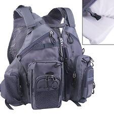 Fly Fishing Floating Vest Adjustable Mutil-Pocket Packs & Floatation Cushion