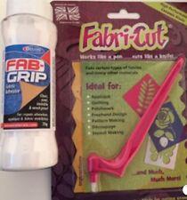 NEW FABRI-CUT TOOL & FAB GRIP GLUE PACKAGE DEAL rotary Cutter fabric Applique