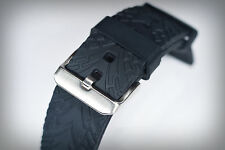 Pirelli Aquos Style (Tyre Tread Pattern) Watch Strap with Stainless Steel Buckle