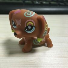 Action Figure Dachshund dog tatoo snow eyes LPS #1010 LITTLEST PET SHOP