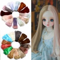 1pcs 15*100cm Doll Accessories Curly Synthetic Fiber Wig Hair For Doll Wigs