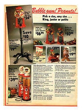 1989 ADVERTISEMENT TOYS BUBBLE GUM MACHINES PEANUTS GAS PUMPS JET BANDIT RC CAR