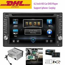 "6.2"" HD 2DIN Bluetooth Car Stereo Receiver DVD Player Support For iPhone Carplay"