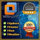 VMware ESXi vSphere/vCenter/vSan/vRealize v7.x LIFETIME LICENSE/ FAST DELIVERY