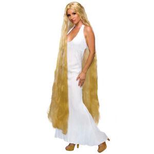"Lady Godiva Long Blonde Wig 60"" Rapunzel Gaga Costume Womens Accessory"