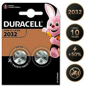 ⭐️ Duracell CR2032 3v LITHIUM Coin Cell Batteries (Pack of 2) DL2032 BR2032