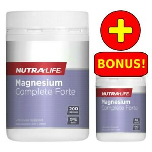 Nutra-Life Magnesium Complete Forte 200 + 50 (250) Capsules Daily NutraLife