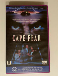 Cape Fear [VHS] CIC Taft Video 1992 Thriller Big Box Ex-Rental Tape Scorsese!