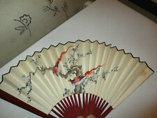 Vintage Hand Held Folding Cooling Fan Japanese/Chinese Style