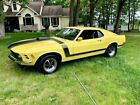 1970 Ford Mustang  1970 Ford Mustang boss 302  Yellow Coupe 302 V8 4 Speed Manual