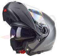 LS2 FF325 STROBE FULL FACE FLIP FRONT MOTORCYCLE MOTORBIKE CRASH HELMET TITANIUM