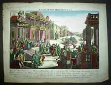Vue d'optique LA VILLE DE JERUSALEM A LA PENCOTE gravure originale XVIIIeme