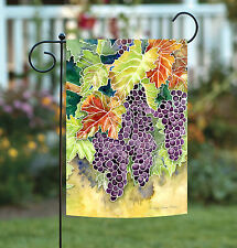 NEW Toland - Vineyard Grapes - Colorful Purple Wine Fruit Garden Flag