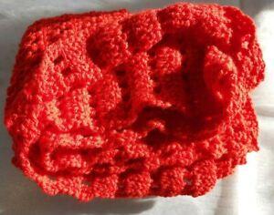 Scarf, Shawl, Crochet , Hand made, Red, Warm soft, fluffy, Acrylic Yarn,