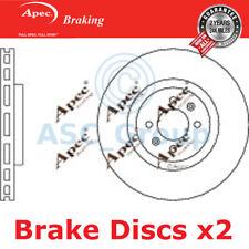 2 X Apec BRAKING 340mm Belüftet OE Qualität Ersatzteil Bremsscheiben (Paar)
