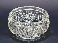 Vintage Pressed Glass Clear Trinket Bowl Dish