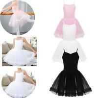 Girls Kids Ballet Tutu Dress Mesh Dancewear Leotard Party Princess Dress Costume