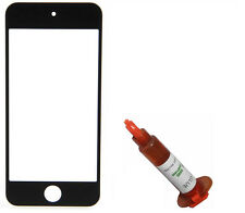 Black front outer glass lens screen iPod Touch 5 replacement + UV LOCA LCD Glue
