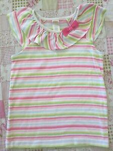 GYMBOREE Striped Polka Dot Ruffled GLITTERY Long Slv KNIT TOP SHIRT Shirts 4-5