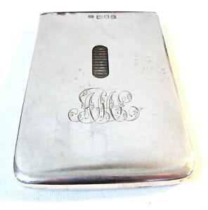 VINTAGE ANTIQUE SAMSON MORDAN & Co SOLID SILVER CALLING CARD CASE Circa 1905