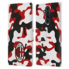 OFFICIAL AC MILAN CREST PATTERNS LEATHER BOOK CASE FOR MICROSOFT NOKIA PHONES