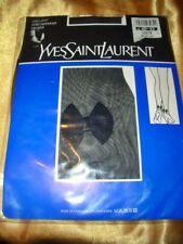 Yves Saint Laurent Strumpfhose mit Schleife Gr. 40-42 schwarz Collant Tights OVP