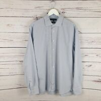Tommy Hilfiger Long Sleeve Blue & White Shirt Size XL