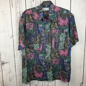 Vintage 1970s or 1980s C&A CANDA Silk Shirt | Classic Design | 100% Silk | SURF
