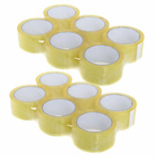 12 ROLLS New Box Sealing SOLVETAPE Clear Shipping Packing Moving Tape 48mm x 50m
