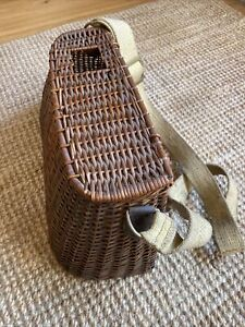 Vintage Fishing Creel Wicker Fishing Basket