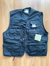NWT Rothco Uncle Milty's Mens Large Travel Vest Black Tactical Utility Fishing