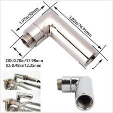 1X Car Universal Metal 90 Degree O2 Oxygen Sensor Angled Extender Spacer M18X1.5