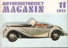 Motorhistoriskt Magasin Swedish Car Magazine 11 1981 General Motors 040317nonDBE