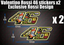 Valentino Rossi 46 Decal Sticker x2 laptop helmet bike car scooter 46 agv moto