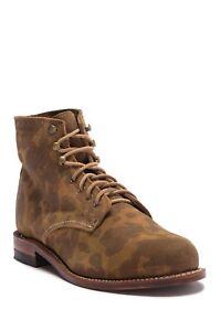 WOLVERINE W40498 1000 Mile Boot Men's Leather Suede Camo 9.5 D NIB