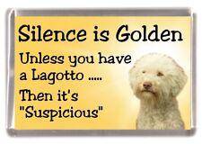 "Lagotto Romagnola Dog Fridge Magnet ""Silence is Golden ..........."" by Starprint"