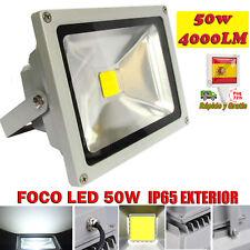 Foco Proyector LED 50W Focos de Exterior IP65 Iluminacion Luz blanco Frio 6500K