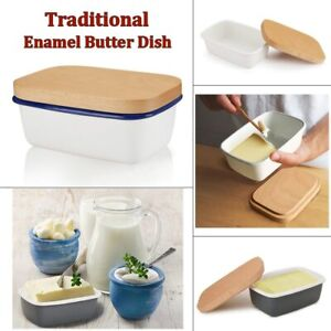 Butter Box Dish Fruit Preserve Storage Box Butter Container Wooden Lid Cover