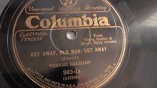 Vernon Dalhart - 78rpm single 10-inch – Columbia Viva-Tonal #969-D Get Away...