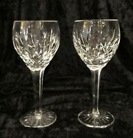 """Waterford Ballymore Wine Glasses Clear Cut Crystal Vintage Mint 7 5/8"""" Tall"""