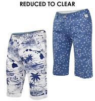 Mens Chino Shorts Cotton Hawaiian Floral 3/4 Summer Swim Short Pants Size 28-38