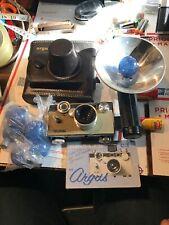 【Exc++】 ARGUS C3 Case Manual Vintage 35mm Camera w/ Cintar 50mm f/3.5 Lens Japan