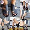 Summer Womens Gladiator Sandals Shoes Flops Flip Flat Slipper Toe Shoes Size US