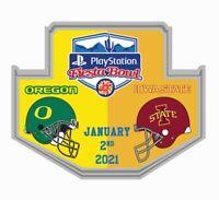 2021 FIESTA BOWL GAME PIN OREGON VS. IOWA STATE 2020 NCAA COLLEGE FOOTBALL