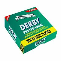 Derby Professional Single Edge Barber Razor Blades, Box Of 100 PCs By Macs-801