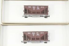 2 Roundhouse Great Northern 26ft Ore Cars, Metal Chassis, NEW unassm, cmplt