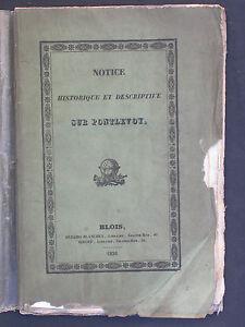 Pontlevoy : Notice historique et descriptive 1836 - Dézair-Blanchet & Giroud