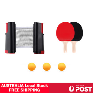 Table Tennis Kit Ping Pong Set Easy Setup Net 2 Bats 3 Ball All Grips Available